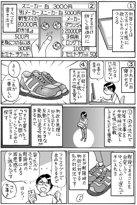 軽躁時の物欲との付き合い方【漫画/松浦さんの双極ライフ】#08-2