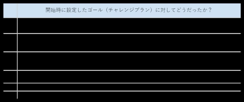 表6.開始時に設定したゴールに対しての回答
